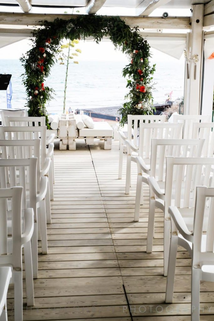 wedding at the beach side sitges