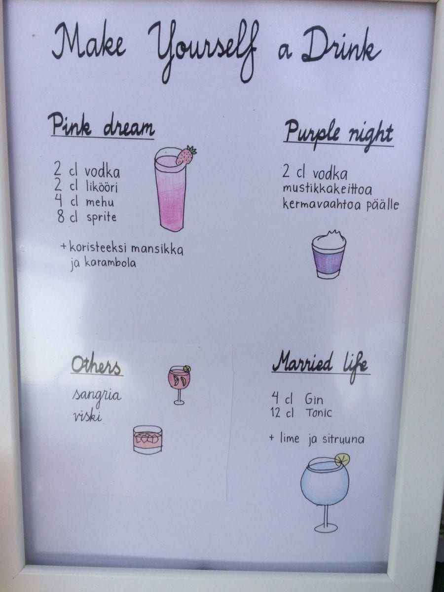 make your own drinks