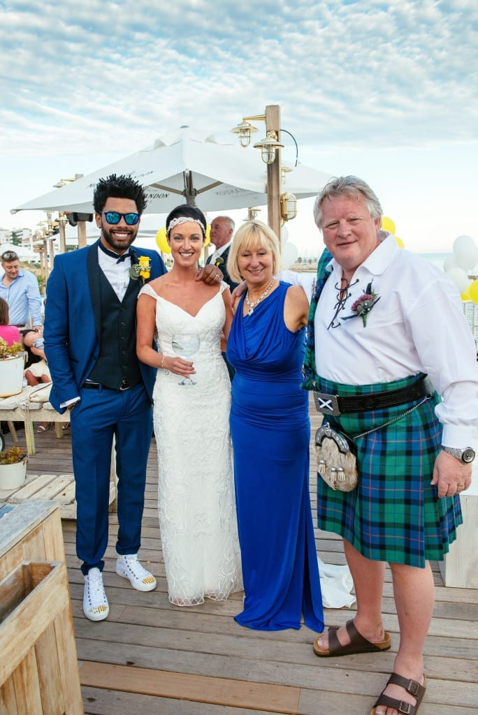 beach wedding sitges