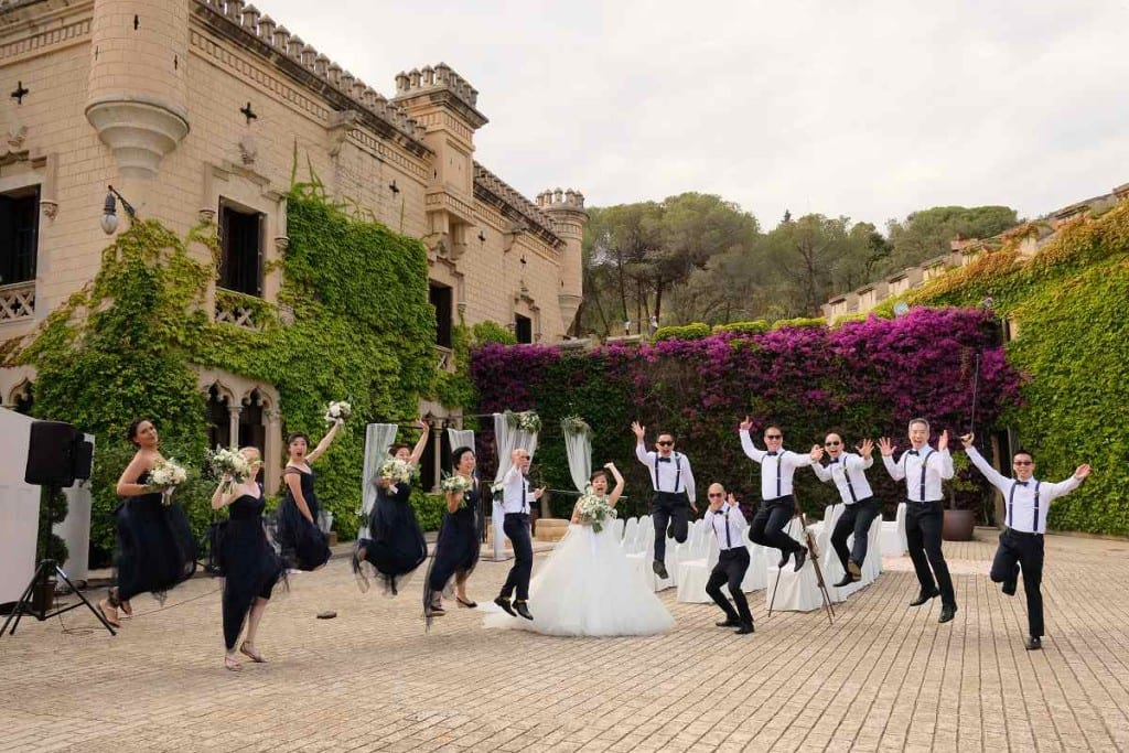 jumping wedding
